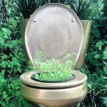 toiletpot als bloempot
